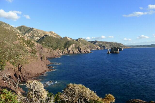 Panoramic view,Nebida,Sardinia