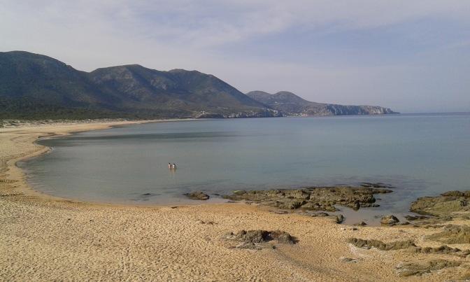 Sardegna, beaches, Portixeddu, Iglesias