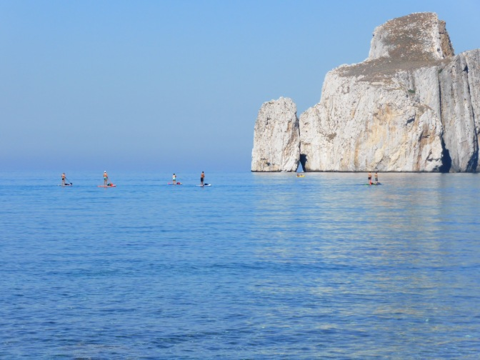 Paddle board, Sardegna, Sardinia, holiday