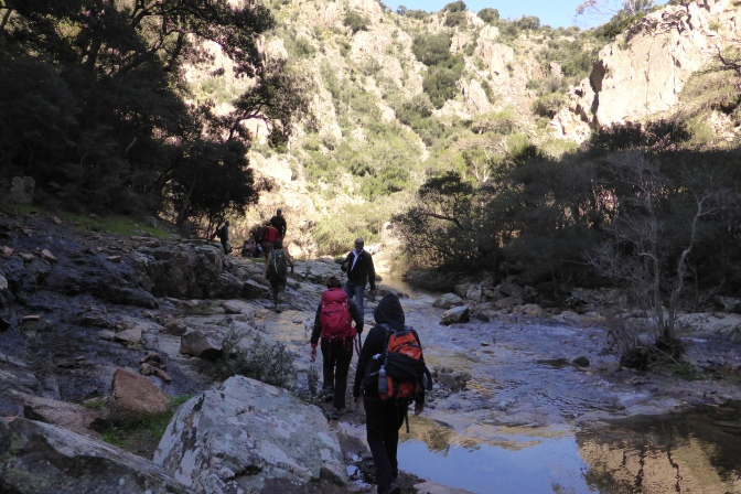 Trekking from San Benedetto, Iglesias.